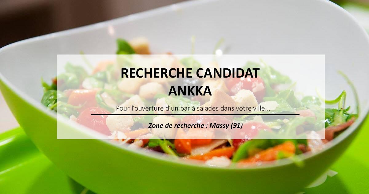 Le bar à salades Ankka, recherche son futur franchisé à Massy (91)